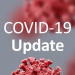 COVID19 Updaye Text over Virus background